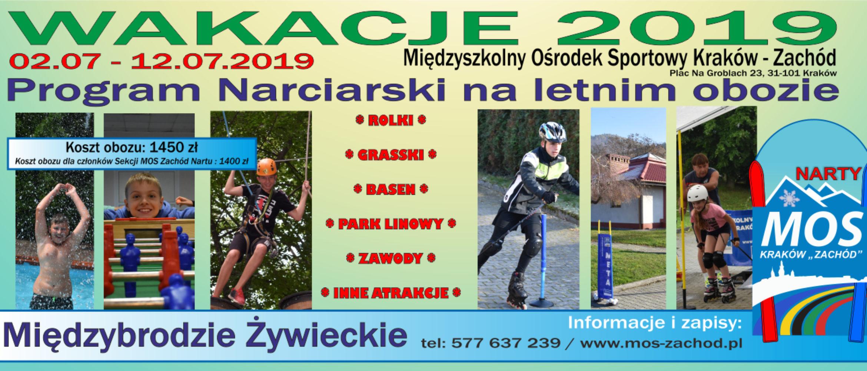 WAKACJE 2019 – Obóz Letni oprofilu narciarskim 02.07-12.07.2019 Międzybrodzie Żywieckie
