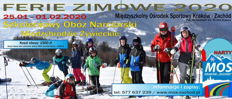 Obóz Narciarski Ferie 2020 – Międzybrodzie Żywieckie 25.01-01.02.2020