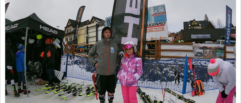 Start naszych narciarzy wzawodach charytatywnych Krzysiek Pomaga Pomagać