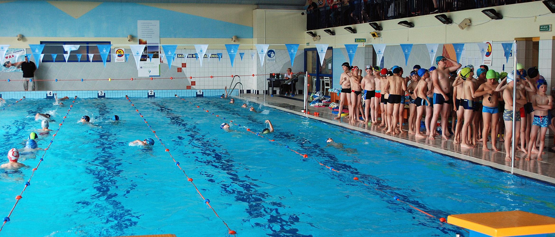 Zawody nazakończenie sezonu nauki pływania